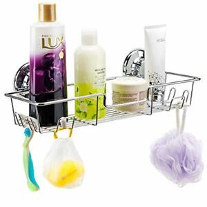 iPEGTOP L-4C Strong Suction Cup Adhesive Shower Caddy Bath Shelf Storage