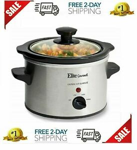 Small Slow Cooker Mini Compact Crock Pot Lunch Meals Stainless Steel Food Warmer
