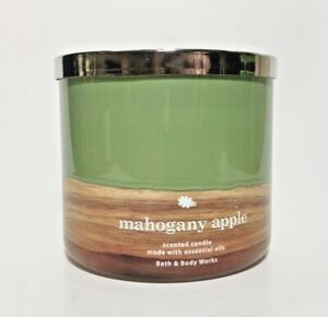 Bath amp; Body Works MAHOGANY APPLE 3 Wick Scented Candle NWT 14.5 oz $43.95
