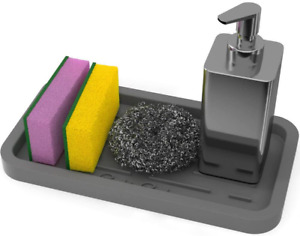 Silicone Sponges Holder Kitchen Sink Organizer Tray for Sponge