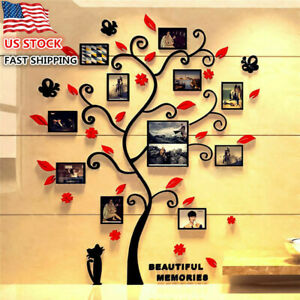 3D Tree Wall Sticker Decal DIY Photo Frame Removable Art Mural Home Room Decor