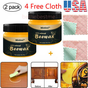 2X Beeswax Furniture PolishWood Seasoning Beewax Natural Wood Wax Traditional