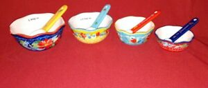 Pioneer Woman Wildflower Whimsy Nesting Measuring Bowl Spoon Set 8 piece New $24.99
