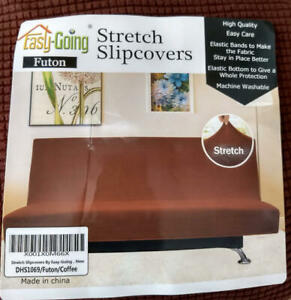 Easy Going Stretch Futon Slipcover Armless Furniture Protector Coffee $12.00