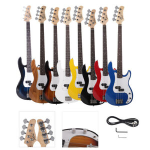 New 8 Colors Glarry GP 4 Strings Electric Bass Guitar Cord Wrench