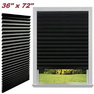 Paper Pleated Shade 36 x 72 Window Blind Sun UV Block Blackout Light Control