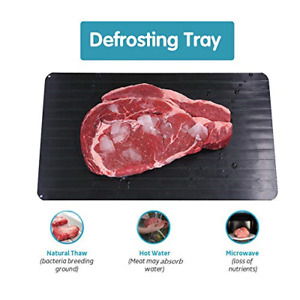 Defrosting Tray Meat Defroster Tray Fast Defrost Tray Safest Way Rapid Thaw Meat