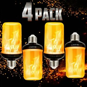 Pretigo Upgraded LED Flame Light Bulb E26 with 4 Fire Modes amp; Upside Down Effect
