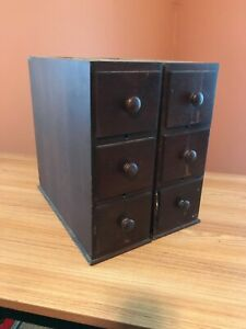 Antique Wooden Sewing Machine Drawers w Cases $75.00