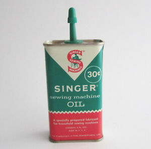 Vintage Singer Sewing Machine Oil Can Handy Oiler Advertising Tin 30 cents $14.95