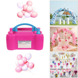 Pink Portable Double Electric Balloon Air Pump Inflator 110V Blower Party