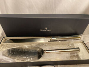 Waterford Lismore Bead 2 Piece Cake Cutting Set New In Box