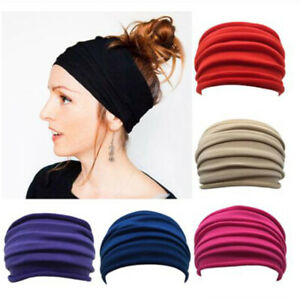 Sports Yoga Workout Running Headband Elastic Wide Stretch Hair Band Wrap Best