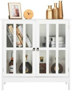 Kitchen Storage Cabinet Sideboard Simple Buffet Cupboard w Door Pantry