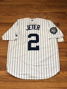 Derek Jeter #2 New York Yankees Jersey With Captain Patch Men#x27;s Size Small
