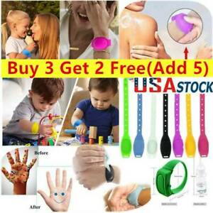 US Portable Silicone Soap Bracelet Wristband Hand Dispenser Band Squeeze Bottles $5.22