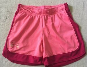 Girl's Under Armour Shorts Heatgear Pink Size YSM Loose S $12.99