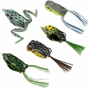 Topwater Frog Lures Soft Fishing Kit With Tackle Box For Bass Pike Snakehead 5