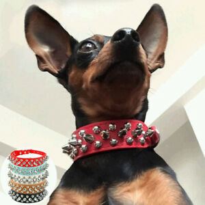 Collar Studded Small PU Chihuahua for Puppy Spiked Leather Dogs Dog Rivet