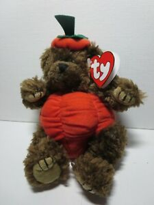 Ty Attic Treasures Peter bear in a pumpkin costume jointed limbs mint w tag $6.99