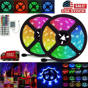 32FT Flexible Strip Light 3528 RGB LED SMD Remote Fairy Lights Room TV Party Bar $11.99