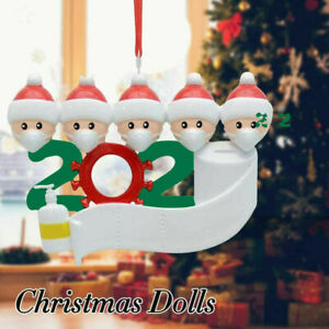 Family 2020 Christmas Hanging Ornament Quarantine Family Members Cute Xmas Gifts