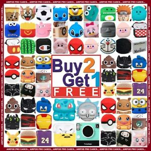 AIRPOD PRO Silicone Case Cute 3D Cartoon Protective Cover For Airpods Cases USA