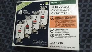 15 Amp 125 Volt Self Test Tamper Resistant GFCI Outlet White 4 Pack