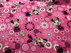 NEW quot;DISNEY MINNIE MOUSE ALLOVERquot; fabric PINK DESIGN by the yard