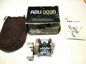 ABU GARCIA AMBASSADEUR FISHING REEL W BOX 3000 REEL IS SUPER CLEAN