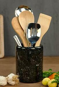 Holder Spoon Caddy Countertop Handmade Marble kitchen Utensils set organizer NEW