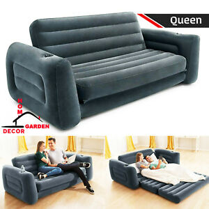 Inflatable Bed Sofa Folding Couch Living Room Loveseat Pull Out Queen Sleeper