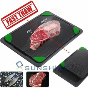 Fast Rapid Defrosting Thawing Tray Kitchen Safe Defrost Meat Or Thaw Frozen Food