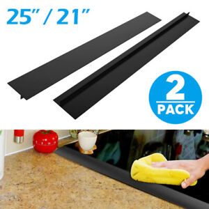 2Pcs Silicone Kitchen Stove Counter Gap Cover Oven Guard Spill Seal Slit Filler