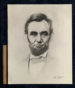 quot;ABE LINCOLNquot; Orig.1st Prt. Lithograph `87 Pencil Graphite Drawing Gary Saderup $35.00