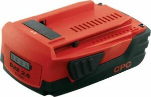New Hilti CPC B22 2.6 Ah Li Ion Cordless Tool Batteries