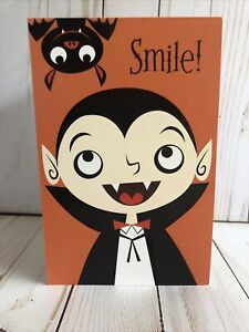 Halloween Kids Card Vampire Dracula Bat Thinking Of You New Kids Free Shipping $4.95