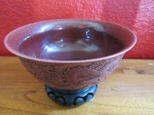 Chinese antique wine dragon porcelain bowl with mark $99.00