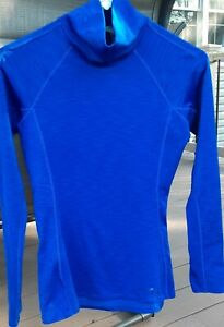 Under Armour Cold Gear Size XS Womens Long Sleeve Top Blue Thumbholes... $13.00