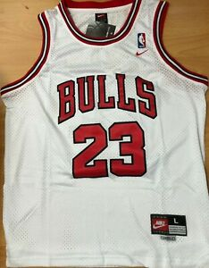 Michael Jordan Chicago Bulls swingman jersey Men#x27;s New with tags #23 white