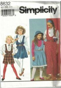 Pattern Simplicity Sewing Girls Jumpsuit in 2 Lengths amp; Jumper Sz 12 14 NEW OOP $3.00