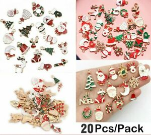 Alloy Christmas Charms Pendant DIY Crafts Making Jewelry Enamel Mixed Decor Lots