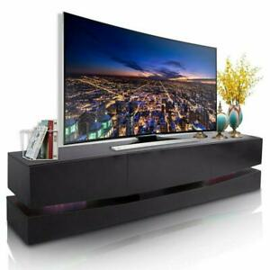 Floating Wall Mout High Gloss Modern TV Stand Cabinet LED Light Entertainment $122.49