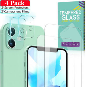 For iPhone 12 12 Pro Max Tempered Glass Screen ProtectorCamera Lens Protector