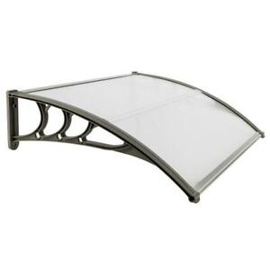 DIY 40x30 Outdoor ABS Window Awning Front Door Canopy Patio Cover Sun Shade $34.90