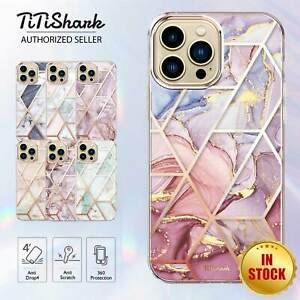 TITSHARK For iPhone 12 Pro Max Mini Case Clear Slim Marble Shockproof Cover