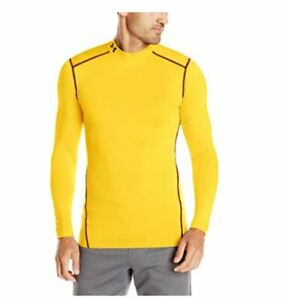 NWT Under Armour Mens UA ColdGear® Compression Mock Shirt Gold Select Size $29.99