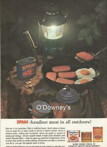 1963 Vintage ads Coleman Coolers and Spam n Eggs Cool Cabin Art