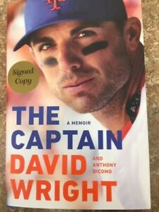 """NEW David Wright signed book autographed """"The Captain"""" hardcover $77.00"""