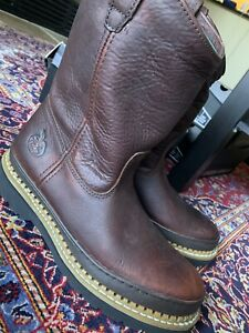 Men's Leather Georgia Boots Size 9